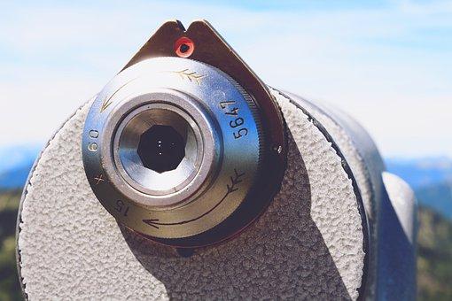 Telescope, View, Panorama, Technology, Metal, Mountains