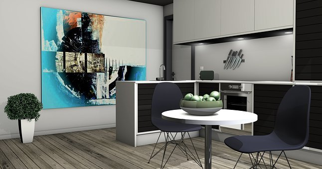 Kitchen, Lichtraum, Gallery, Living Room, Apartment