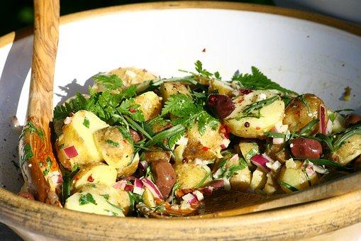 Potatoe Salad, Salad, Dish, Food, Dinner