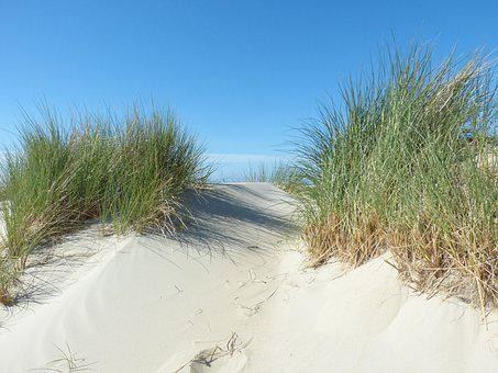 Dunes, North Sea, Beach, Borkum
