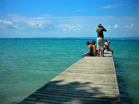 Web, Jetty, Lake, Water, Nature, Entry, Boardwalk