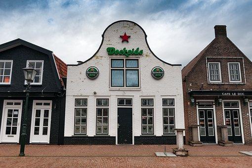 Heineken, Lemmer, Port, Netherlands, Holland, Channel