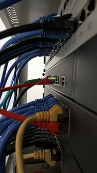 Network, Lan, Cable, Switch, Router, Power Cord