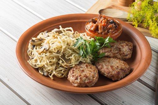 Meatballs, Food, Pasta, Fried, Shish Kebab, Frying