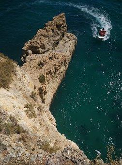Portugal, Algarve, Beach, View, Sea