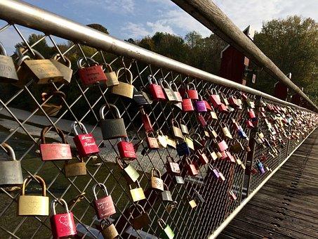Bridge, Padlocks, Love, Love Locks, Promise, Padlock