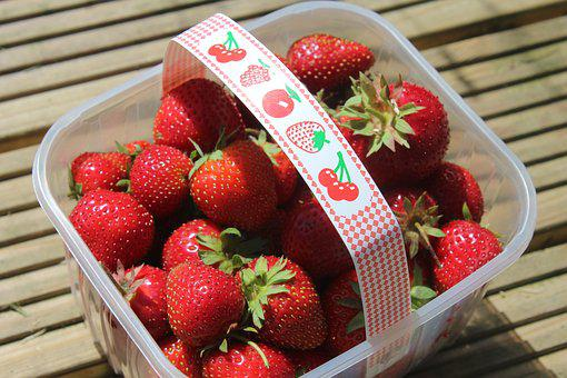 Strawberry, Punnet, Fruit, Food, Red, Berry, Sweet