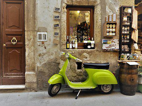 Toscana, Vespa, Roller, Motor Scooter, Classic, Retro