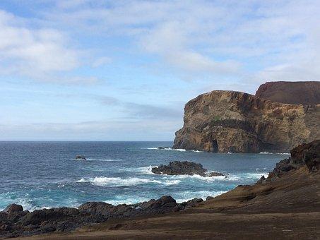 Coast, Landscape, Rock, Sky, Ocean, Water, Azores
