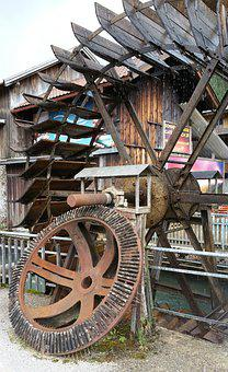 Mill Wheel, Waterwheel, Water Power, Forge