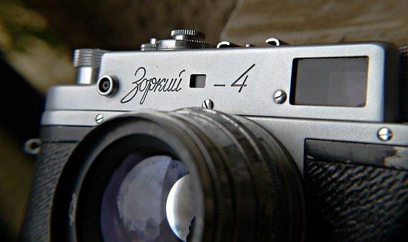 Zorki, Cameras, Camera, Old, Film, Retro