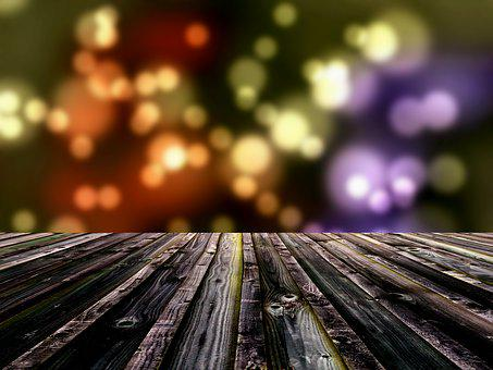 Bokeh, Decking, Background, Deck, Table, Plank, Wooden