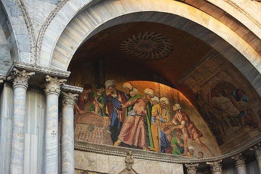 Venice, Square, The Holy, Brand, The Basilica, Fresco