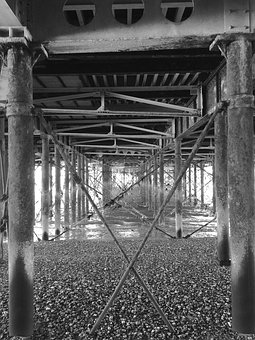 Metal, Bridge, Architecture, Urban, Steel, Construction