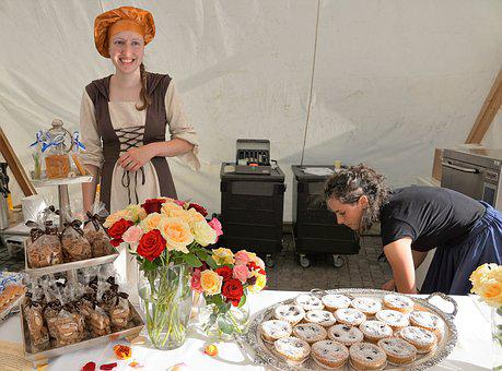Cookies, Bread, Bakery, Market, England, Silver, Tray