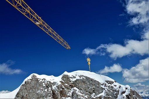 Crane, Crane Boom, Z, Construction Work, Baukran, Site