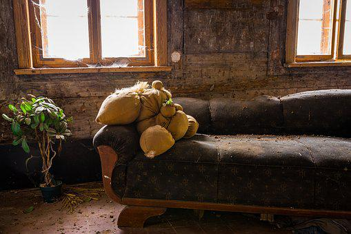Sofa, Forget, Architecture, Destruction, Destroyed