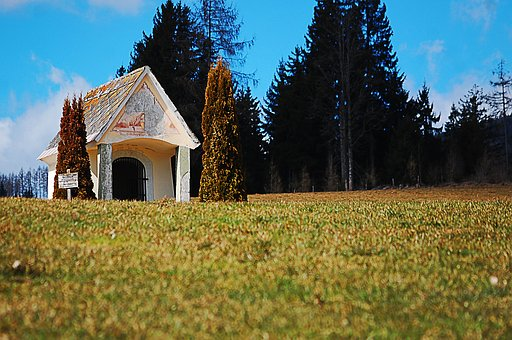 Meadow, Forest, Chapel, Building, Hut, Religion, Lovely