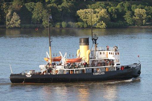 Icebreaker, Stettin, Elbe, Hamburg, Ship, Museum Ship