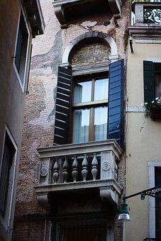 Window, Beautiful, Italy, Venice, Ancient, Shutters