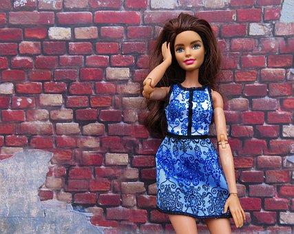 Barbie, Doll, Brick Wall, Glamour, Model, Posing, Sexy