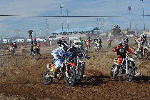 Motocross, Mx, Holeshot, Bike, Extreme, Sport, Race