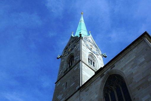 Church, Switzerland, Faith, Holy, Summer, Sky, Religion