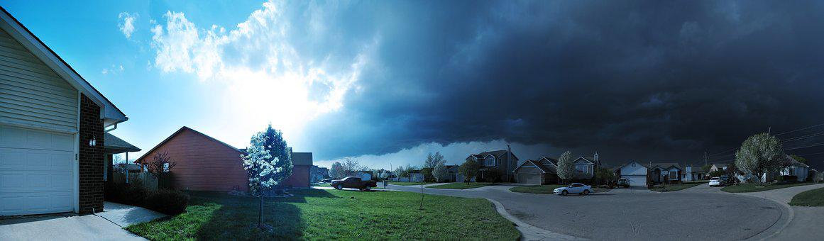 Weather, Storm, Panorama, Sky, Thunderstorm, Rain
