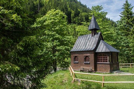 Chapel, Wood Chapel, Church, Small Church