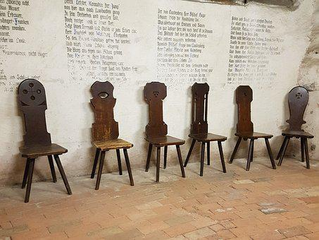 Middle Ages, Chair, Wood, Old, Antique, Historically