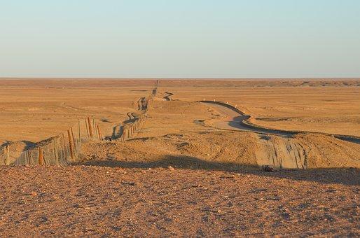 Dog Fence, Fence, Outback, Australian, Desert, Long
