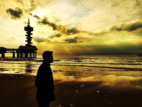 The Hague, City, Beach, Netherlands, Mar, Landscape