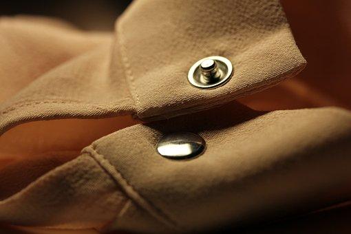 Shirt, Studs, Button, Ata, Bi
