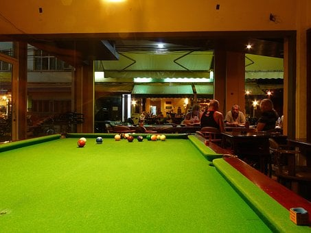Billiards, Bar, American, Game, Bowls, Cane, Play