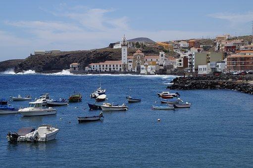 Port City, Tenerife, Candelaria, Port, Boats, Coast