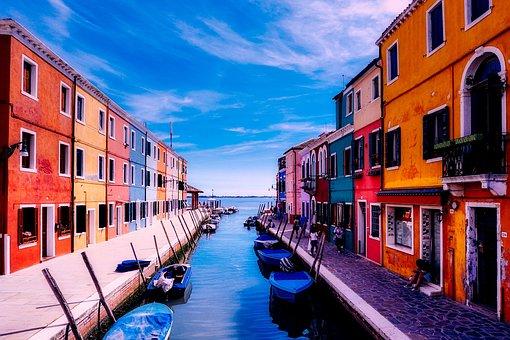 Burano, Venice, Italy, Vacation, Holiday, Tourism