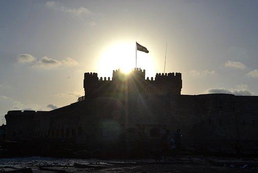 Castle, Alexandria, Egypt, Mediterranean, Montazah