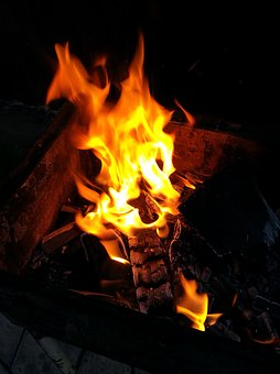 Fire, Bonfire, Flame, Coals, Summer, Firewood, Heat