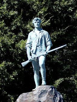 Statue, Minuteman, Lexington Massachusetts, History