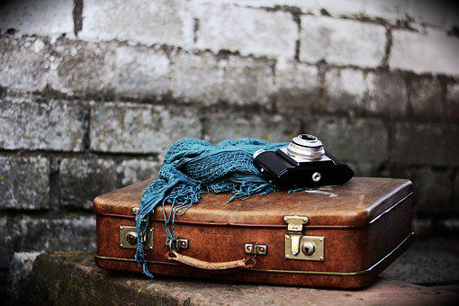 Luggage, Old Suitcase, Nostalgia, Leather Suitcase