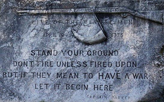 Memorial, Plaque, Lexington Massachusetts, Park