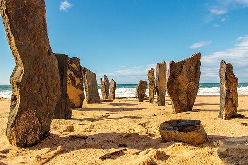 Portugal, Beach, Stone, Algarve
