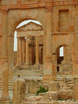 Roman, Ruins, Sbeitla, Tunisia, Africa, Architecture