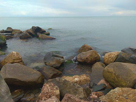 Sea, Stones, Beach, Black Sea, Sea ​​stones, Summer