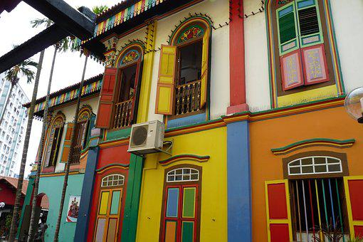 Singapore, Arab Street, Little India, House, Facade
