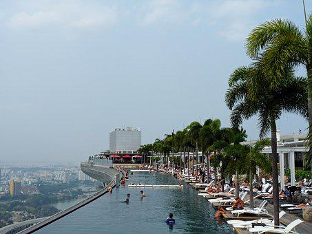 Singapore, Marina, Bay, Sands, Swimming Pool