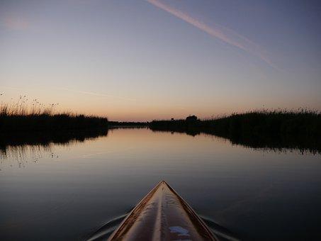 Holland, Netherlands, Water, Friesland, Sunset, Sky