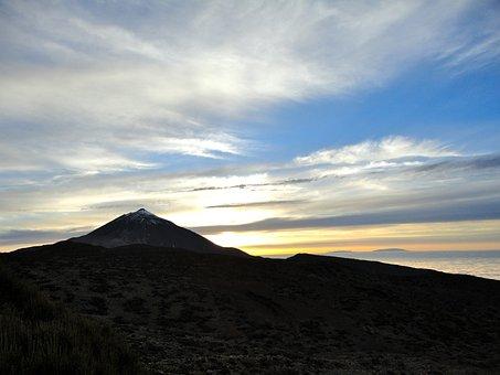 Teide, Tenerife, Sunset, Landscape, Spain, Mountain