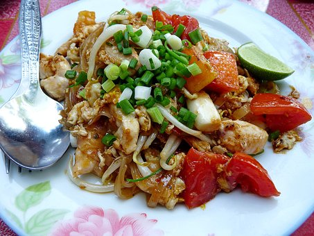 Pad, Thai, Noodles, Thailand, Flat, Typical, Gastronomy