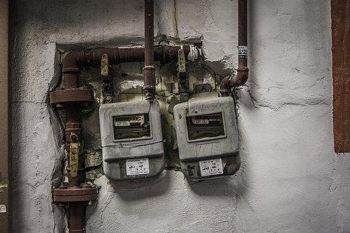 Electric, Gauge, Vintage, Wall, Gas Pipe, Gas